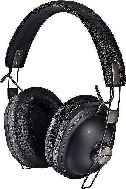 Panasonic RP-HTX90NE-K - Auriculares Inalámbricos (Noise Cancelling, 200 gr, 24 H de Batería, Carga Rápida, Unidad Control 40 mm, Cable Extraíble, Control Voz, Bluetooth, Diseño Clásico) Color Negro: BLOCK: Amazon.es: Electrónica