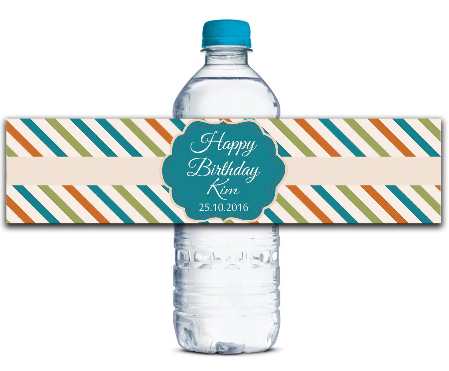 Personalisierte Wasserflasche Etiketten Selbstklebende Selbstklebende Selbstklebende wasserdichte Kundenspezifische Geburtstags-Aufkleber 8  x 2  Zoll - 50 Etiketten B01A0W49U4 | Verschiedene Stile und Stile  6ea35e