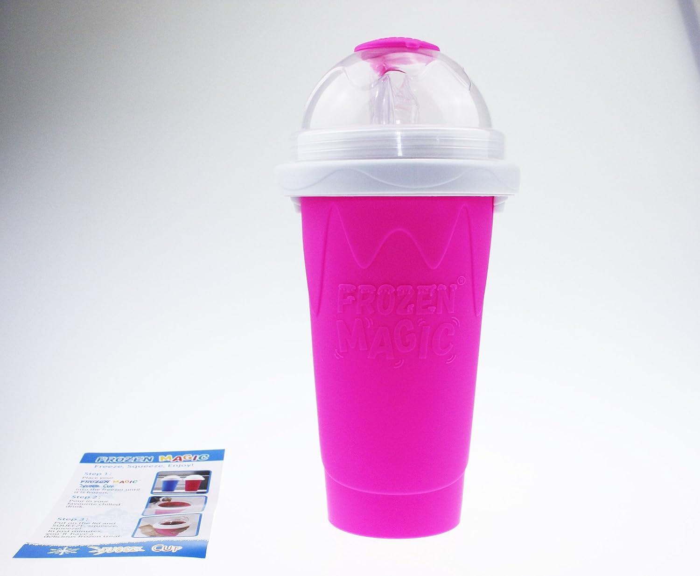 Squeeze Cup Slushy Maker - Bicchiere Slushy Maker Per Preparare Granite - Magenta [ARTUROLUDWIG]
