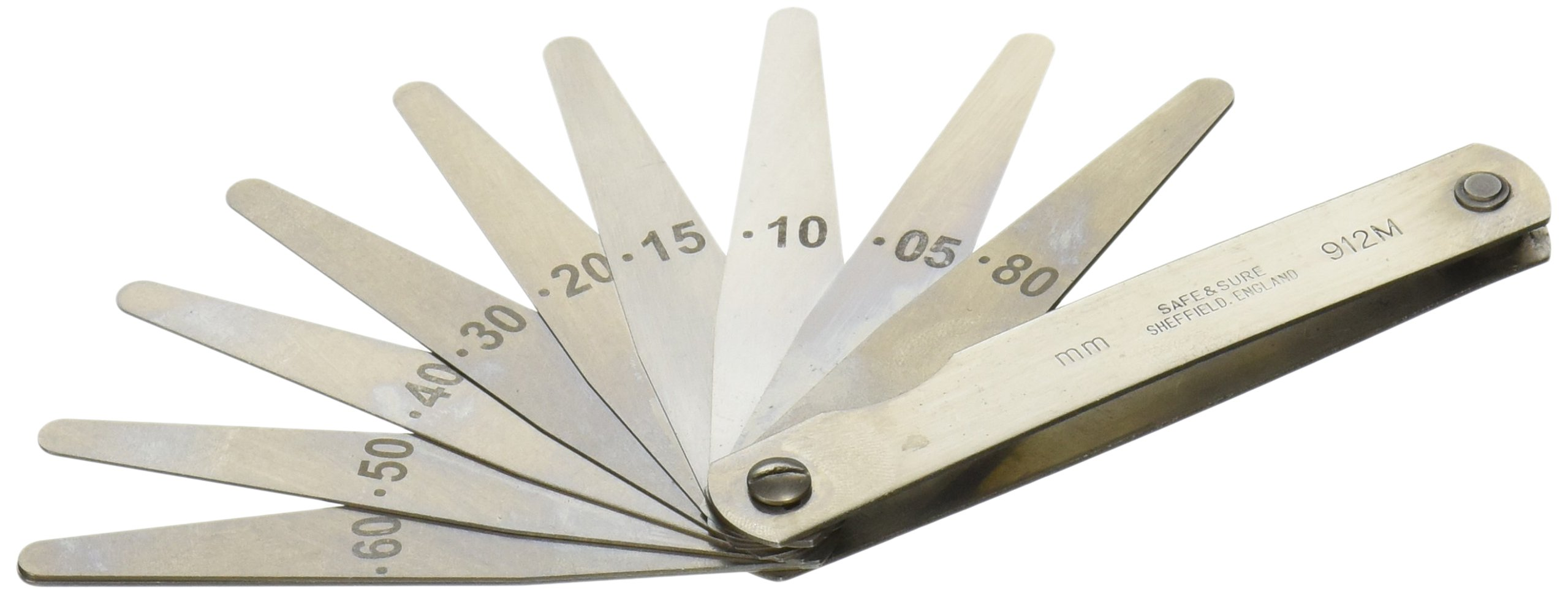 Metric Feeler gage Set 75mm Blades x 10 - Moore and Wright