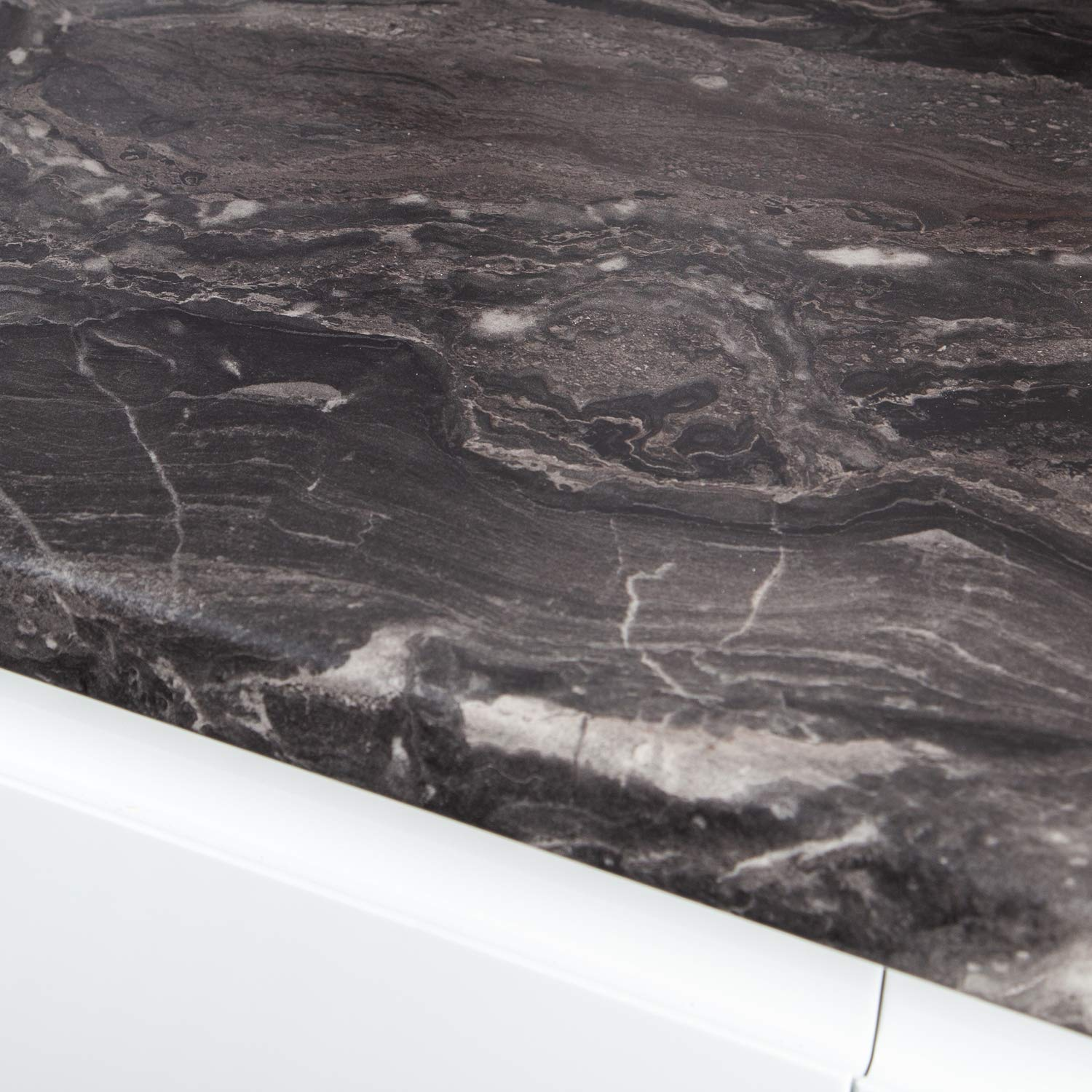 Black Marble Effect Kitchen Worktop