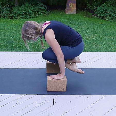 Juego de 2 bloques de yoga, natural, resistente yoga Prop ...