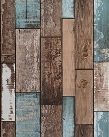 Wood Plank Wallpaper Wood Contact Paper Wood Wallpaper Stick And Peel Self Adhesive Wallpaper Removable Wallpaper Rustic Distressed Wood Con Paper Wood Look Wallpaper Faux Vinyl Roll118 X18 Amazon Com