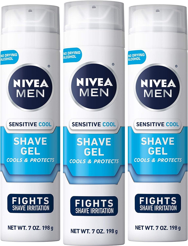 NIVEA MEN Sensitive Cooling Shaving Gel with Skin Guard, 7 oz ...