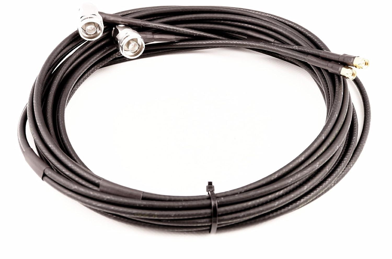 TWIN Cable Coaxial Para LTE/WiFi - Belden H155 de lsnh - N ángulo conector - -> SMA conector - libre de halógenos - retardante de llama 5 m: Amazon.es: ...