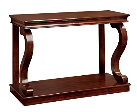 Amazoncom Furniture of America Chersie Wood Console Table Cherry