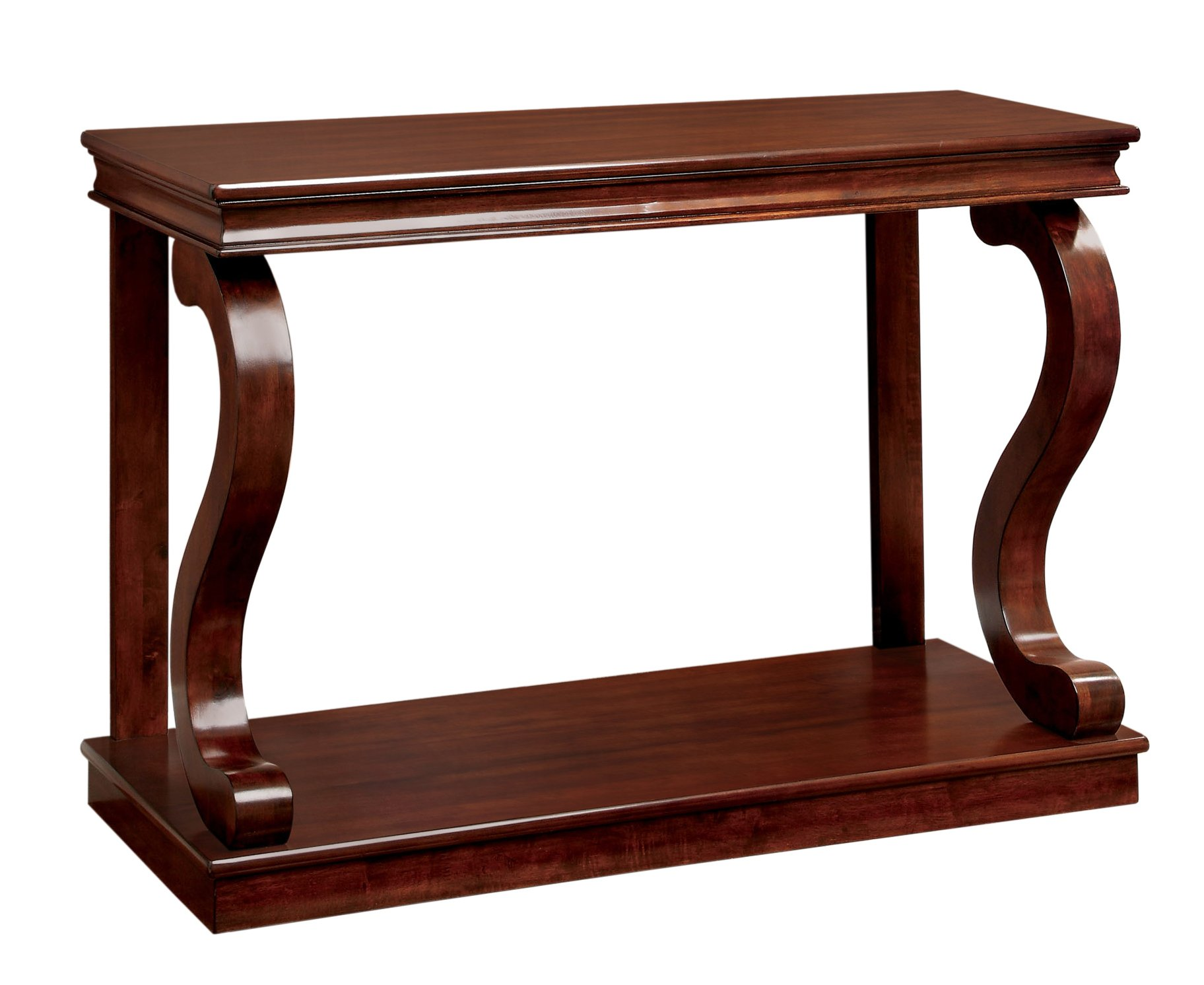 Furniture of America Chersie Wood Console Table, Cherry