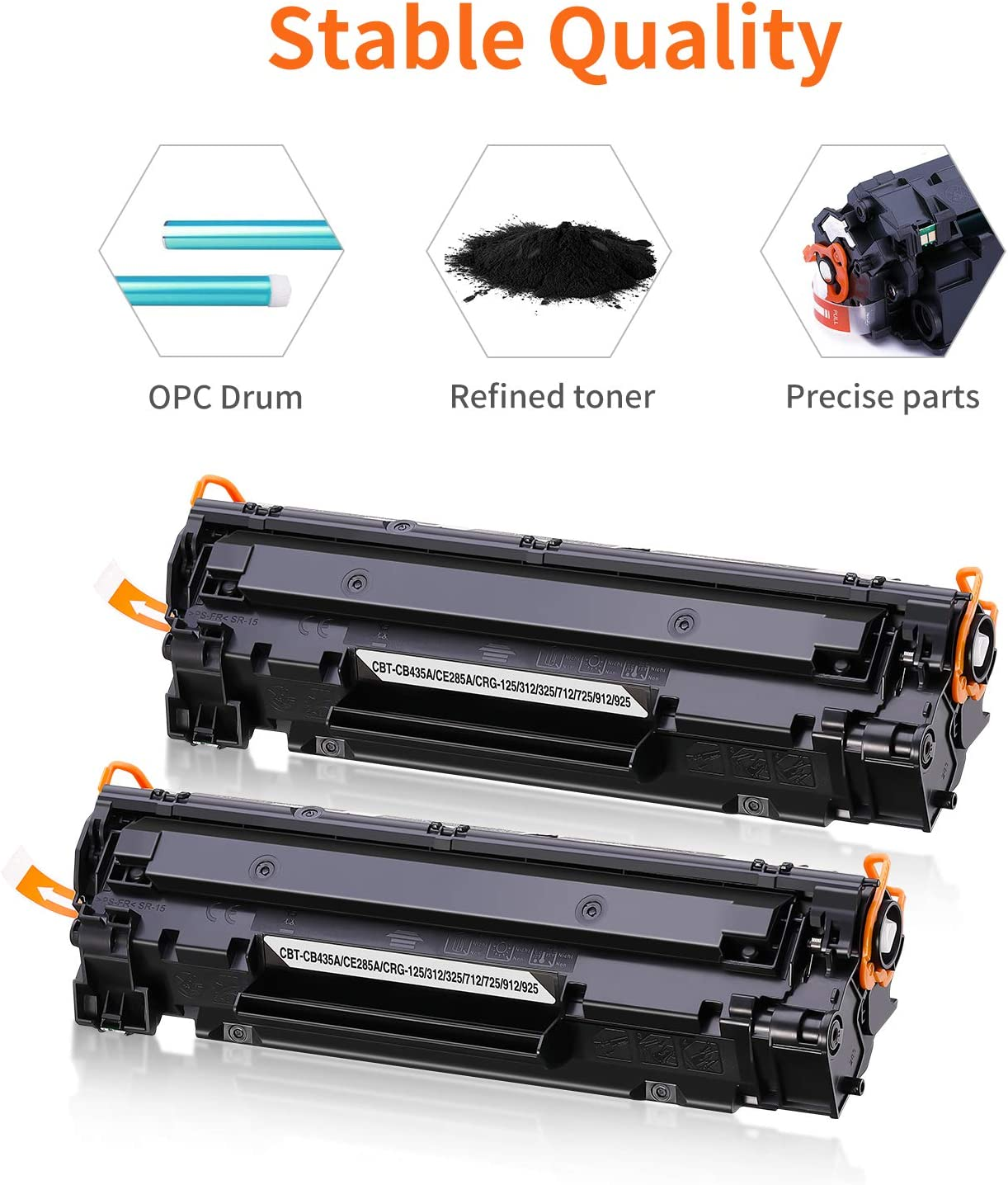 OfficeWorld CE285A Black Toner Cartridge Replace for HP CE285A 85A Compatible with HP Laserjet Pro P1102W P1102 M1132MFP M1217NFW M1212NF M1132 P1100 M1136 M1210 M1212 M1213NF P1106 Canon LBP 6000