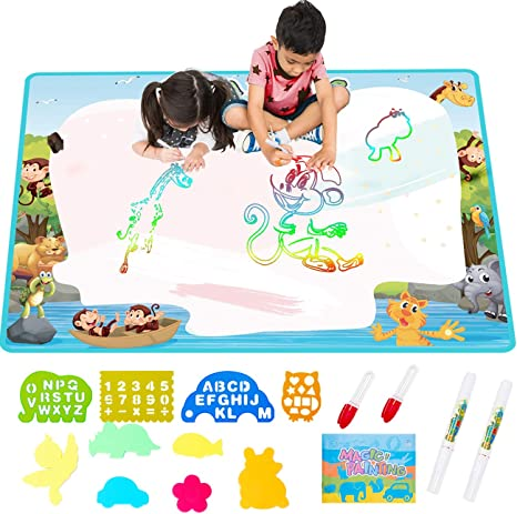 Free To Fly Extra Large Aqua Water Drawing Magic Mat 2019 Updated Color Painting Doodle Board