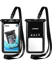 Mpow Funda Móvil Impermeable Flotante, Bolsa de Teléfono Móvil Seca para iPhone XS/XS MAX/X/8/8 Plus/7/7 Plus,Google Pixel, LG G6, Huawei, BQ Aquaris,Sony,Galaxy(2 Paquetes)