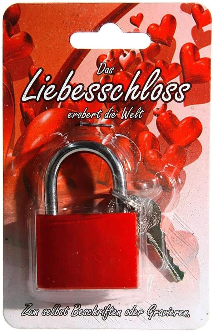 Cadenas pour Amoureux Rouge env 3,8 cm