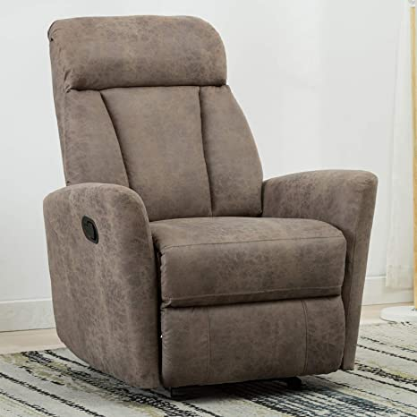Superb Anj Chair Contemporary Leather Gliding Recliner Chair For Modern Living Room Classic Smoky Grey Dailytribune Chair Design For Home Dailytribuneorg