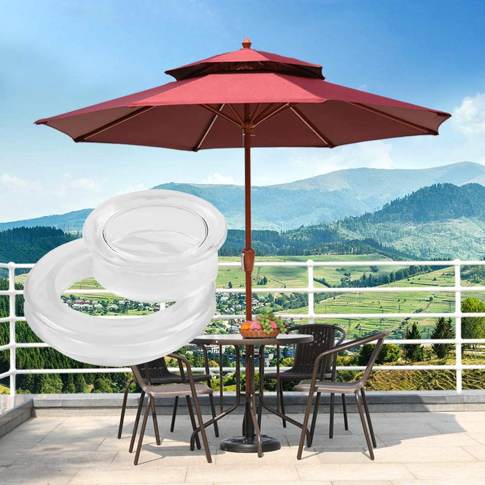Skystuff 2Pcs 2 Inch Patio Table Umbrella Hole Ring Plug for Glass Outdoors Garden Shop Deck Yard