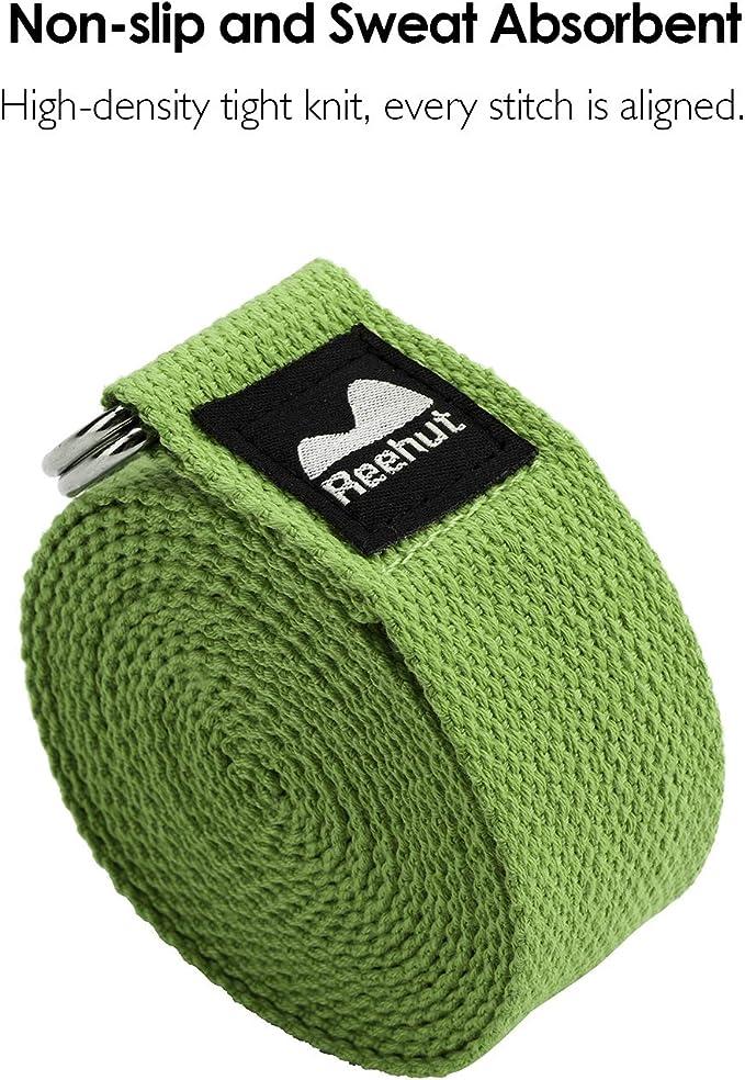 Amazon.com: REEHUT Yoga Strap (6ft, 8ft, 10ft) w/Adjustable ...