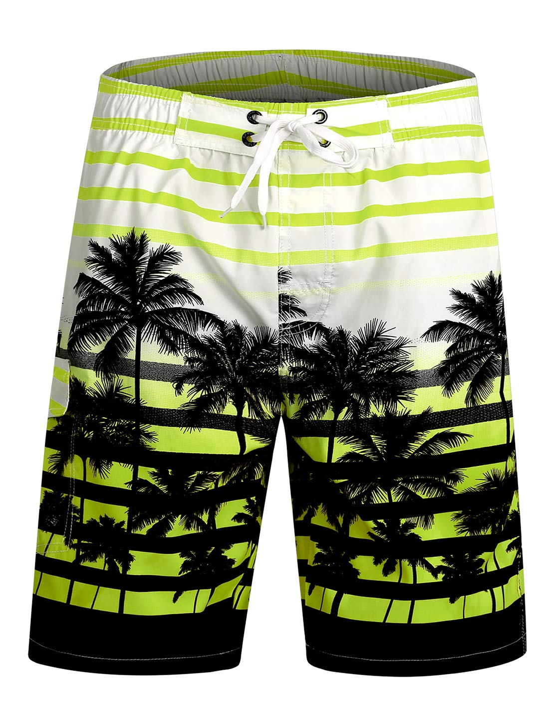 APTRO Swim Trunks Bathing Suits Men Hawaiian Shorts DZSK #1525 Green XL by APTRO