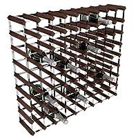 RTA Porta-bottiglie di vino, 80 posizioni, in acciaio galvanizzato/mogano, marrone