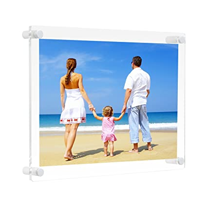 Amazon.com - 8.5x11 Clear Acrylic Wall Mount Floating Picture Frame ...