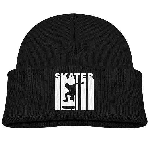 Amazon.com  Retro Skater Skateboarding Toddlers Boys Girls Warmer Knit  Beanies Hats Skull Caps  Clothing 131bf6b6bb5