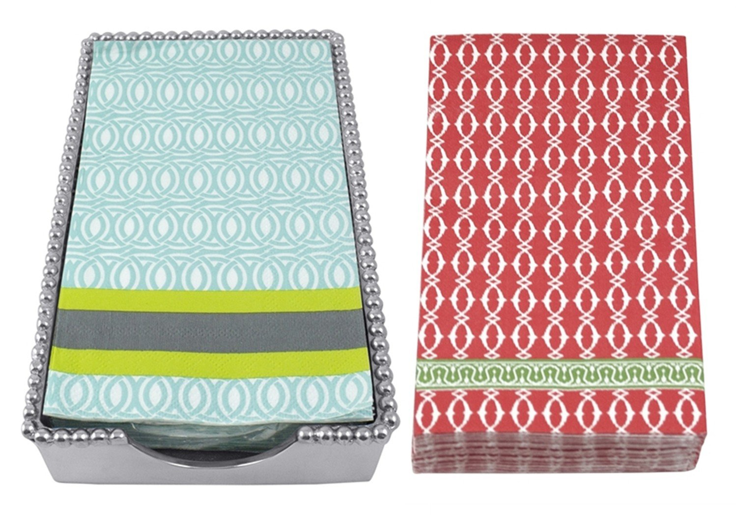 Mariposa Beaded Guest Towel Holder with 2 sets of Napkins - Spring & Holiday by Mariposa