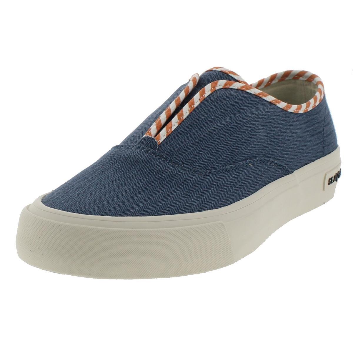 SeaVees Women's 01/64 Sunset Strip Regatta Fashion Sneaker, Riviera Blue, 9 UK/9 M US