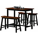 Merveilleux Crown Mark Tyler 4 Piece Counter Height Table Set