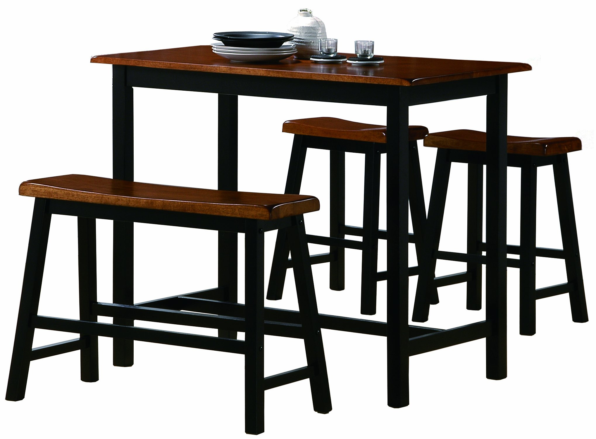 Crown Mark Tyler 4-Piece Counter Height Table Set by Crown Mark