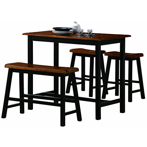 Crown Mark Tyler 4 Piece Counter Height Table Set