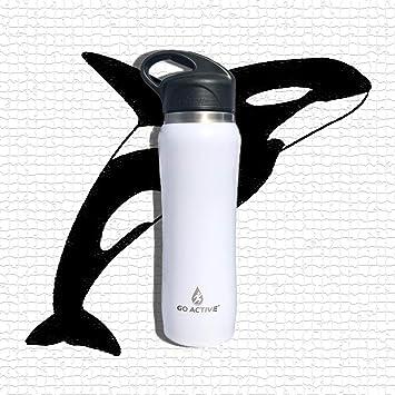 Amazon.com: GO Active - Botella de agua aislada con pajita ...