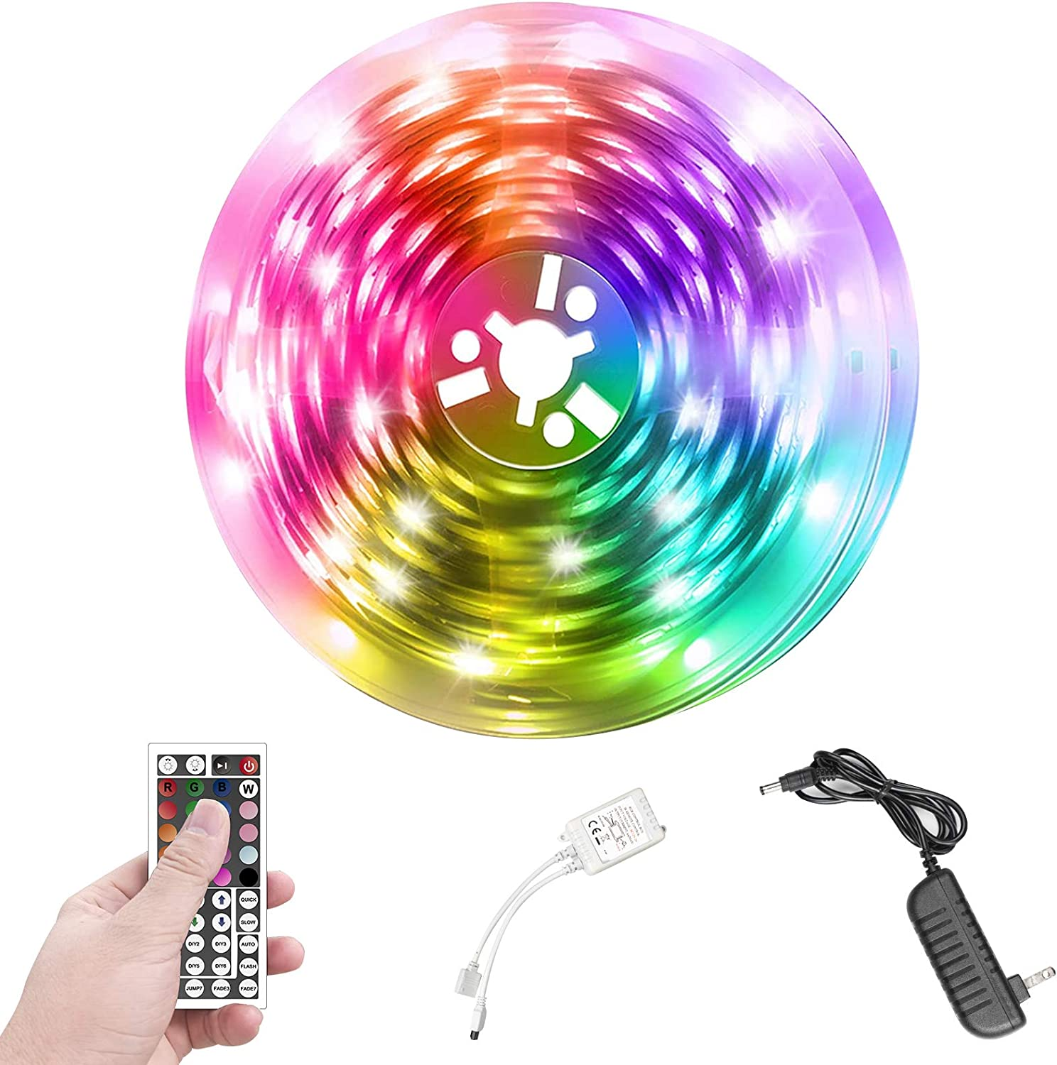 Led Strip Lights for Bedroom, Lightdot 16.4ft RGB Color Changing Strip Light with Remote for Bedroom, Party and Home Decoration