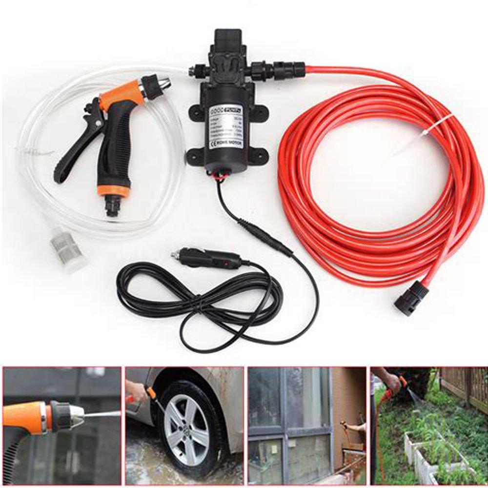 BSTOOL Car Wash Pump Kit, Portable 131PSI 80W High Pressure Electric Car Water Washer Pump Sprayer 12V