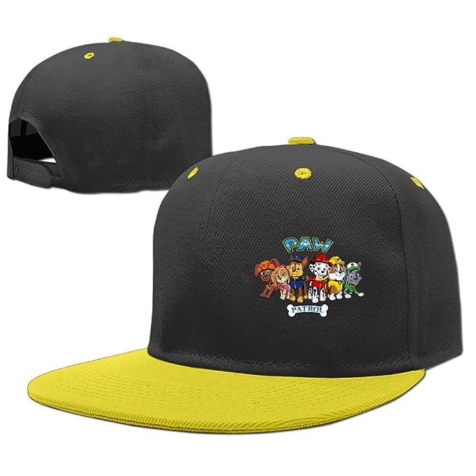 5fc14d11597 Paw Patrol Logo Youth Flat Brim Baseball Cap Boys Girls Hat Snapback One  Size Yellow