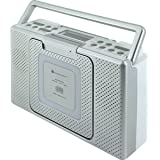 soundmaster BCD480 Splashproof Portable CD Player FM Radio (Silver)