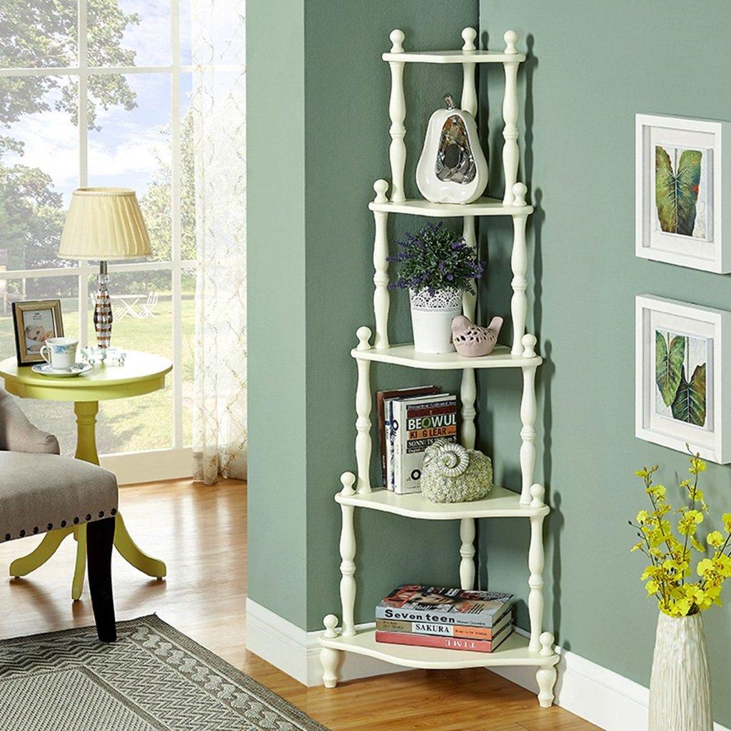 Amazon.com: LTJ-SWEET Bedroom Corner Shelf Landing Bookshelf ...