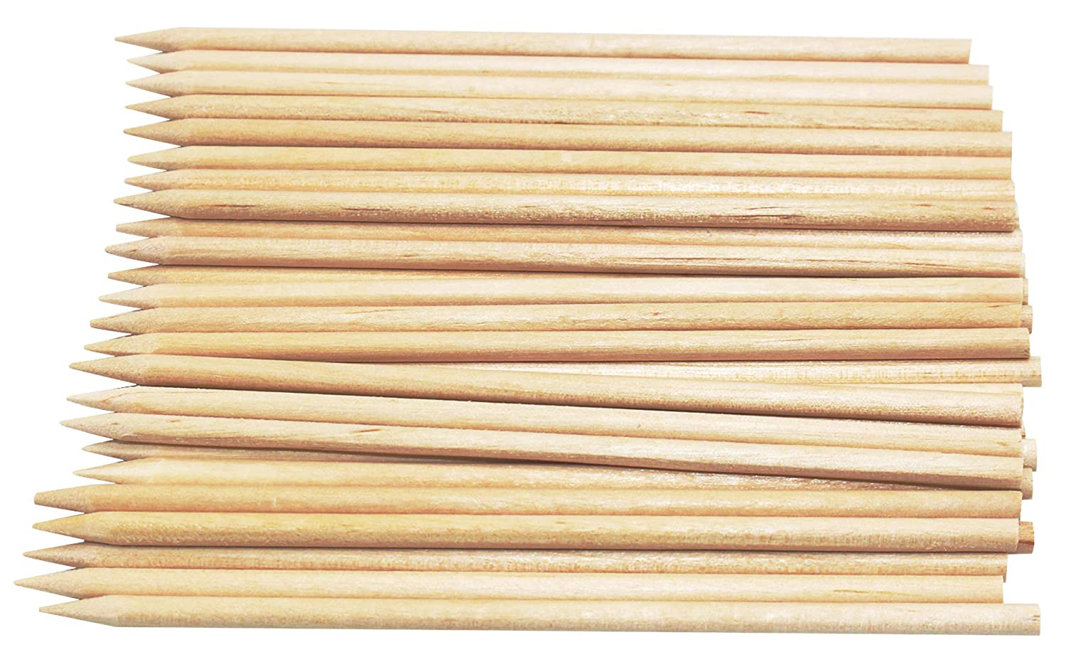 Heeler 200 Pcs Natural Birch Wood BBQ Skewers Candy Apple Skewers Sticks Length 4.5 inch