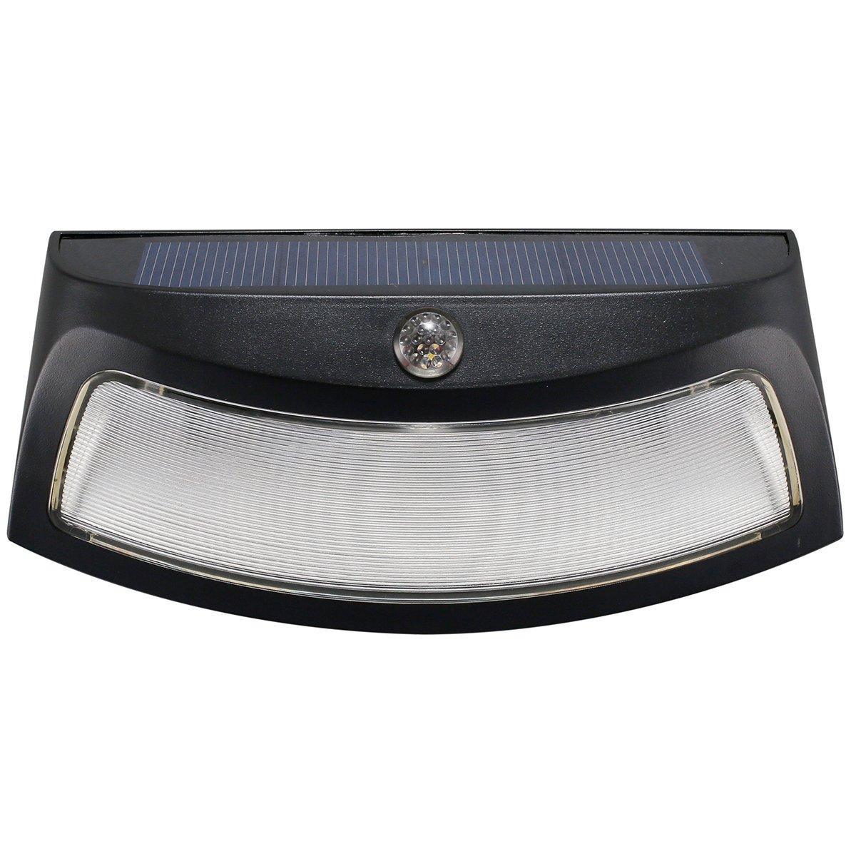 Creative Light-operated LED Nightlight Solar Energy Powered Wall Lamp White Light