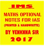 IMS Maths optional notes for IAS printed notes by Venknna sir