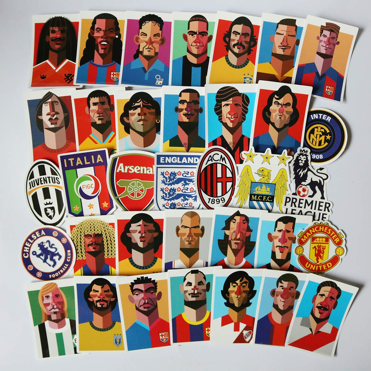 Stickers Calcos 35 un. Futbol Origen U.S.A. (7MLXC1MT)