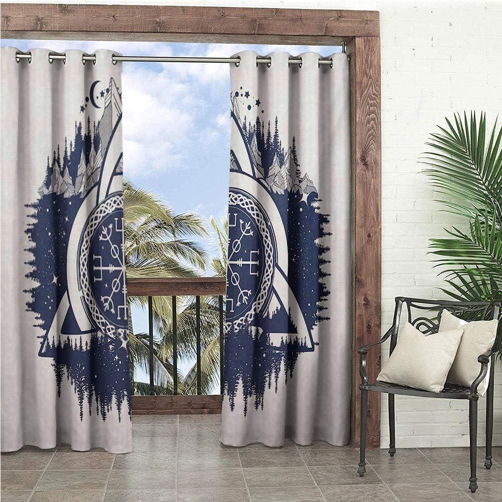 1GShophome - Cortinas para Puerta corredera con Vista de Collage de día y de Noche con Luna y Sol Horizon Countryside Hillside, Color Verde y Azul: Amazon.es: Jardín
