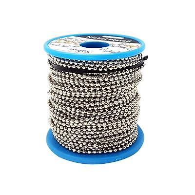 Ball Chain Number 3 Spool Nickel Plated Steel 100 Feet: Industrial & Scientific