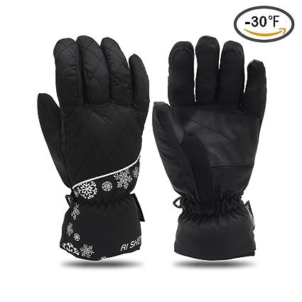 c8e409aaf03 YOPINDU Guantes de esquí de Invierno cálido Resistente al Agua Resistente al  Viento Clima frío (