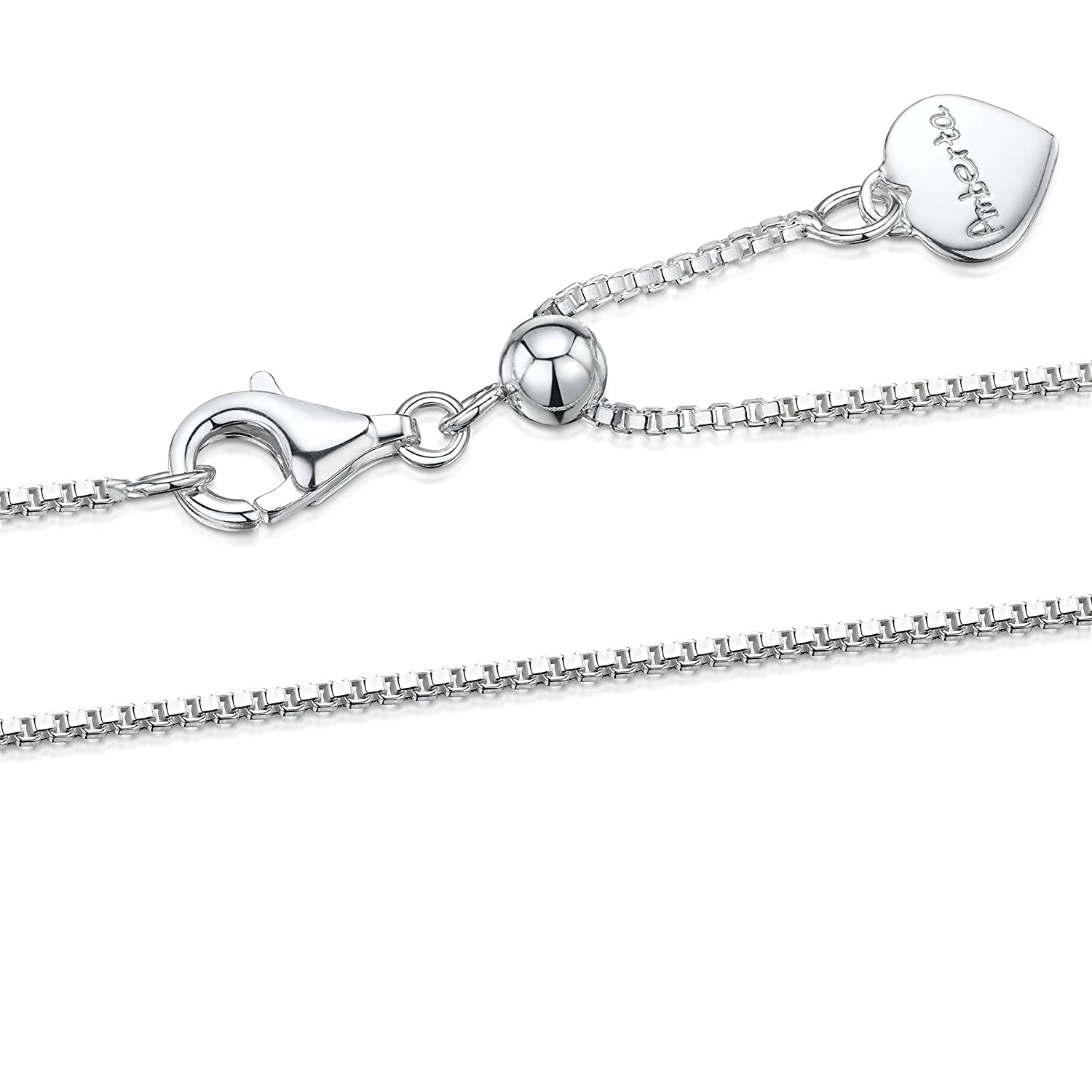 17 Inch .925 Sterling Silver Long and Short Chain Necklace