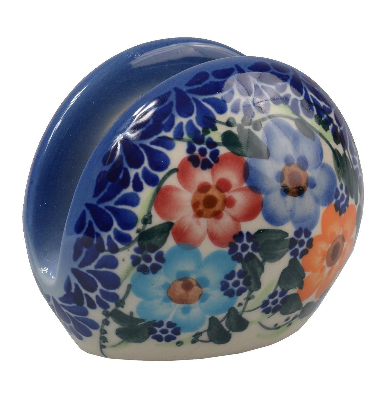 d.703 Cranberry Collection realizzato a mano in ceramica tovagliolo: o porta tovaglioli Tradizionale in ceramica polacca altezza 7/cm