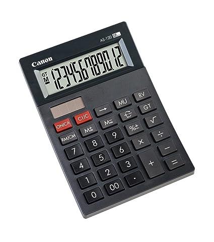 amazon com canon as 120 mini table calculator 4582b003 computers