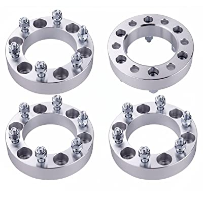 WEELTECH 4 pcs 1.5 Inch 6x5.5 to 6x5.5 12x1.5 Studs Wheel Spacers for Toyota 4-Runner | FJ Cruiser | Sequoia | Tacoma(Only 6 Lug Vehicles) | Tundra | Isuzu GMC Chevrolet: Automotive