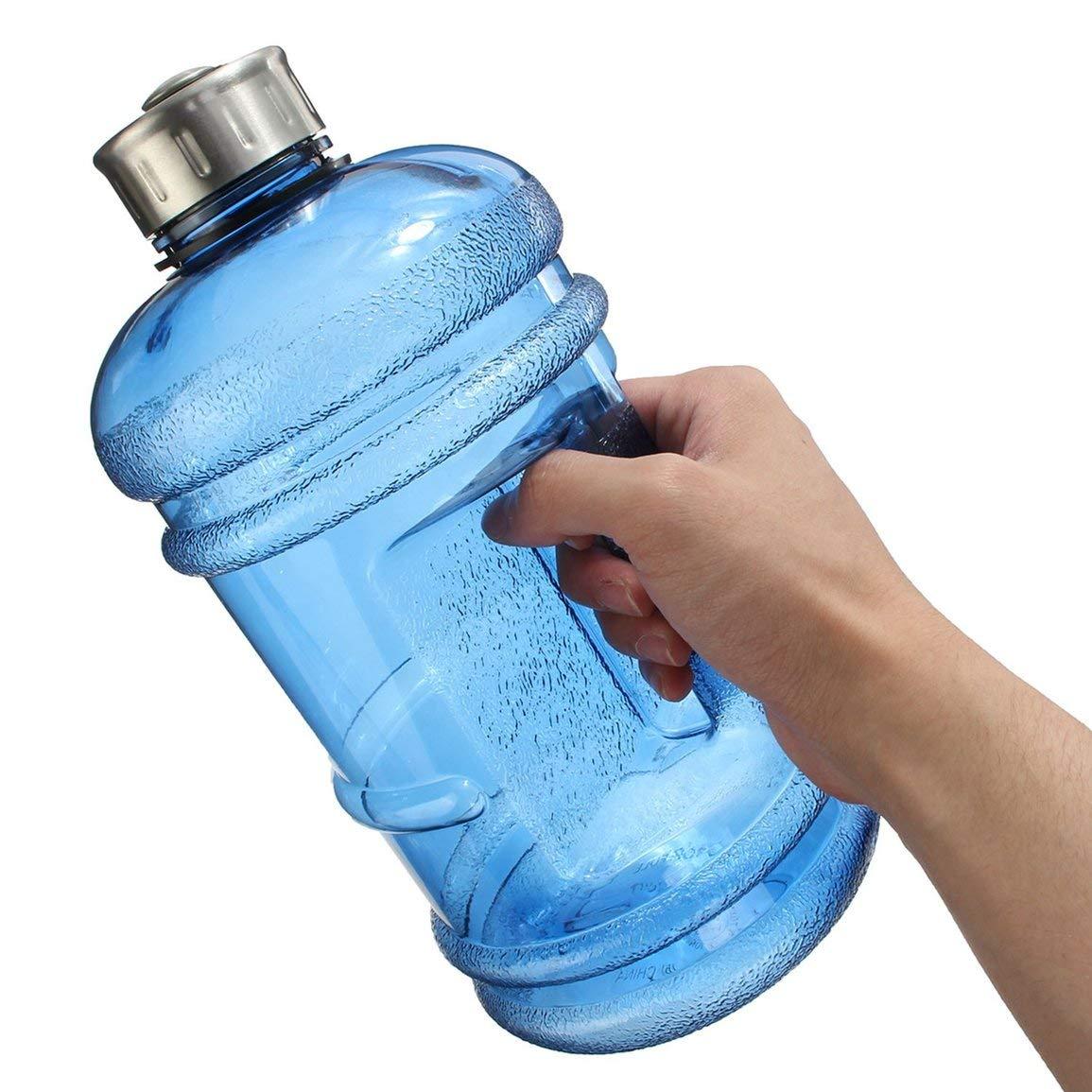 QuYiShenYiShiFuZhuang Botella de Agua Grande Grande de 2.2L Hervidor de Agua de Gran Capacidad Gimnasio de Deportes al Aire Libre Gimnasio Botella de Agua para Entrenamiento Camping Running Azul