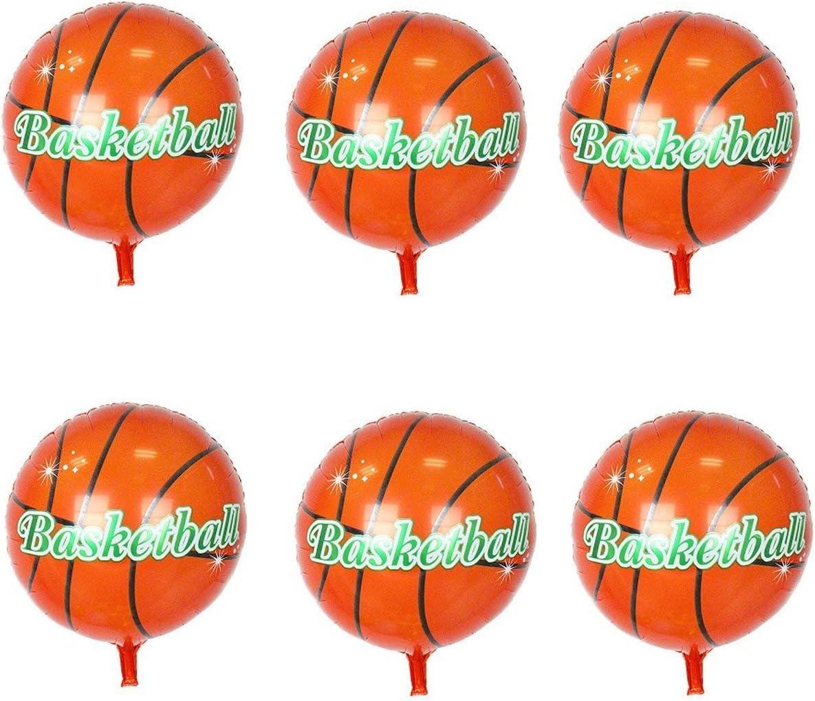 Kodoria 6 unids Balones de Baloncesto Helio Foil Mylar Baloncesto ...