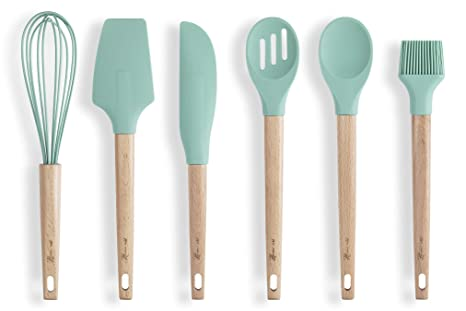 HomeArt Silicone Baking Utensils Set | Kitchen/Cooking Tools - Spatula,  Pastry Brush, Whisk, Scraper, Slotted and Solid Spoon | Non-Stick, ...