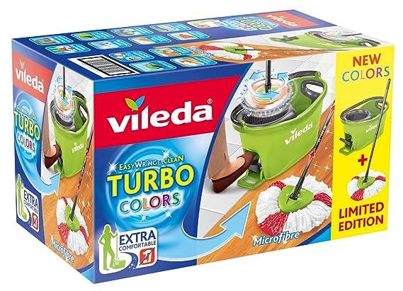 Vileda Turbo EASYWORLD Anillo & Clean Box Suelo Set de Limpieza, Plástico, Verde, 29,6 x 48,6 cm, de 2 Unidades: Amazon.es: Hogar