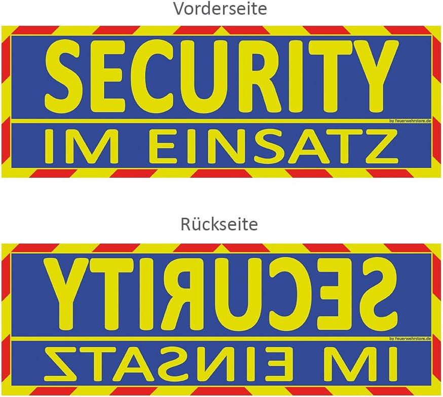 Feuerwehrstore Security Im Einsatz Wendeschild Wsb2 Für Die Sonnenblende In Normal Spiegelschrift Security Auto