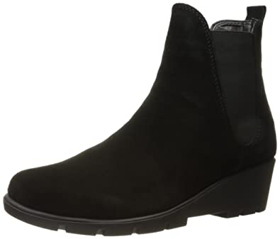 The FLEXX Women's Slimmer Ankle Boot, Black Waterproof Suede, 10 Medium US